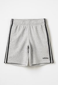 adidas Performance - BOYS ESSENTIALS 3STRIPES SPORT 1/4 SHORTS - Pantaloncini sportivi - medium grey heather/black - 0