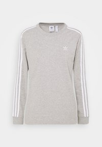 3-STRIPES ADICOLOR - Long sleeved top - medium grey heather