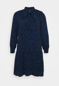 GAP Petite - BOW NECK DROP WAIST - Day dress - blue animal - 3