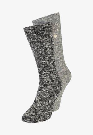 BOX SLUB 2 PACK - Knee high socks - black/grey