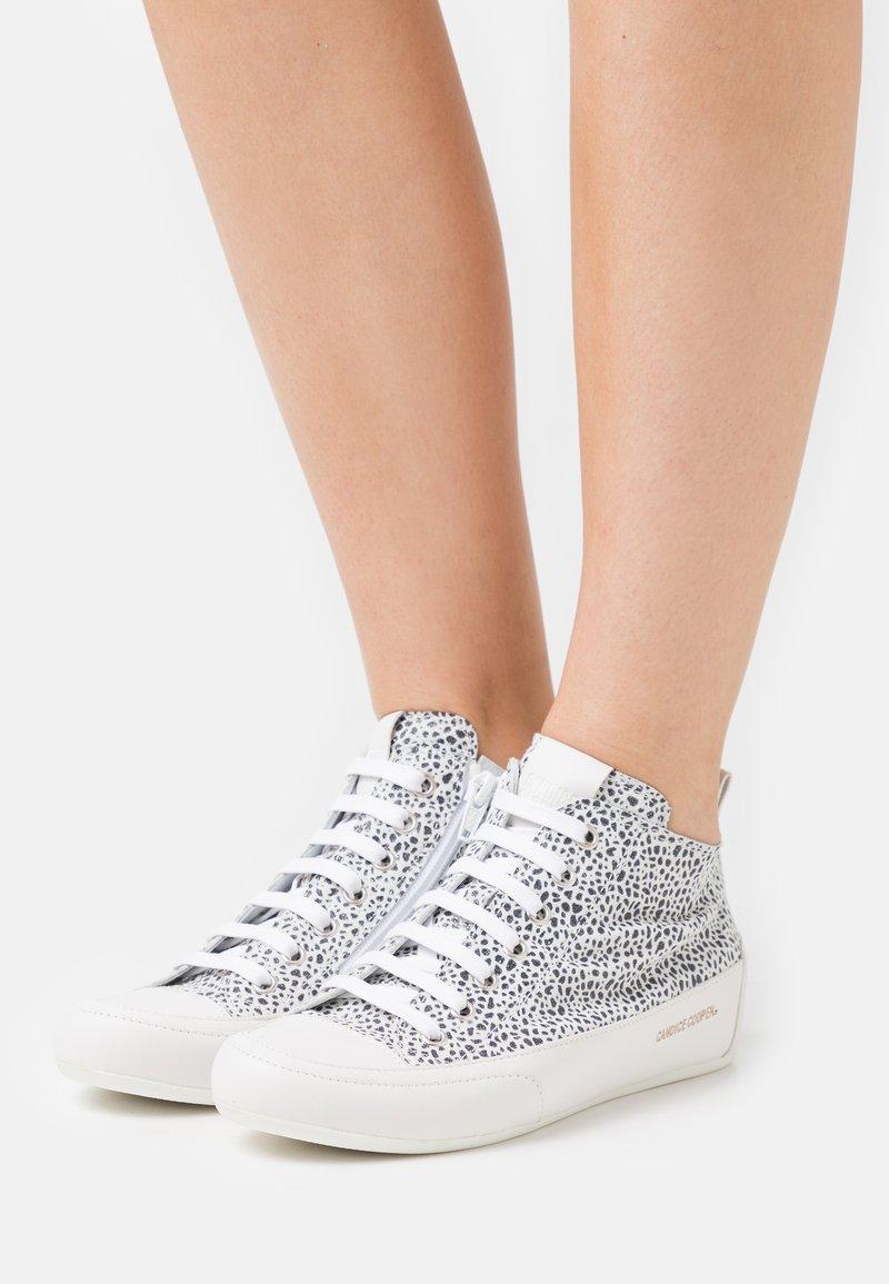 Candice Cooper - MID - Sneakers hoog - stone/nero/bianco