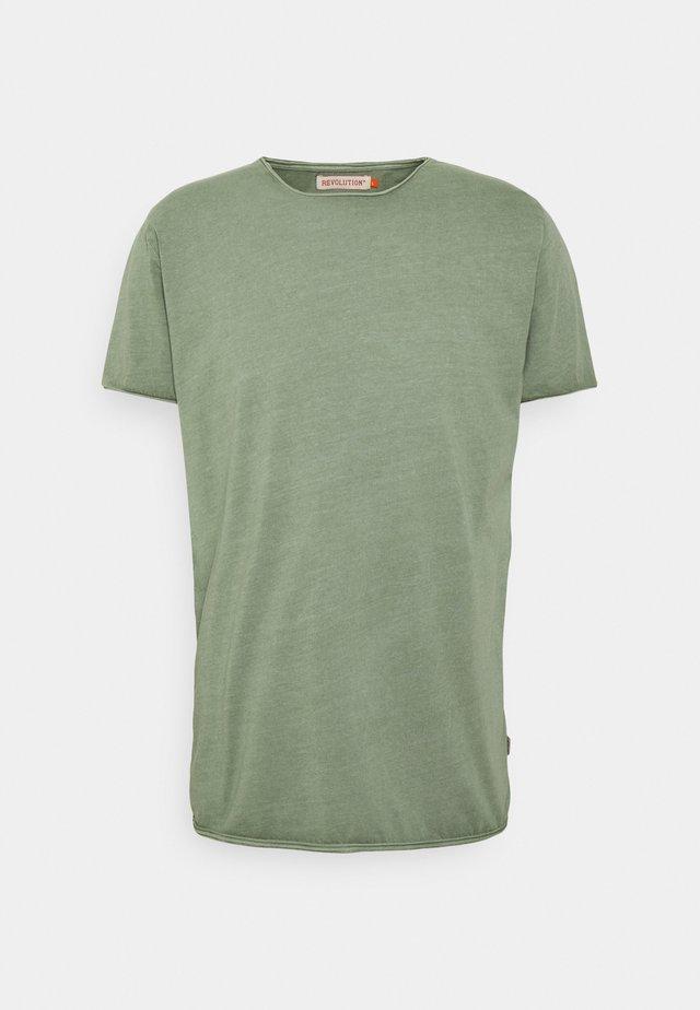 ROLL EDGE - T-shirt basic - army