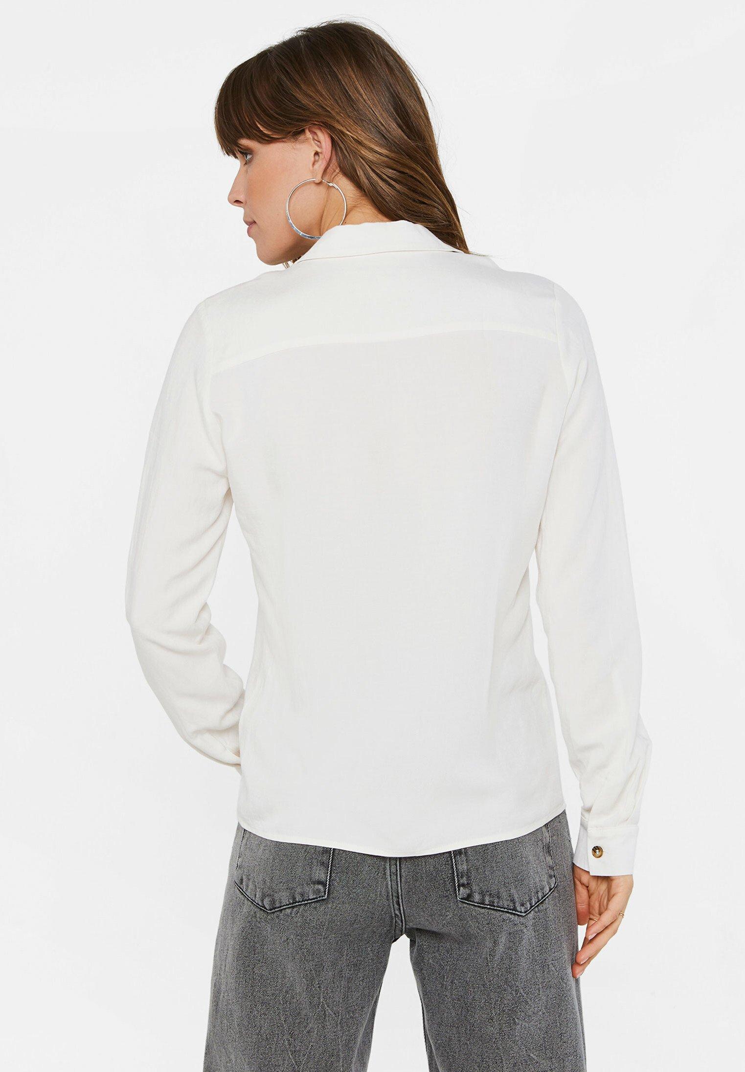 Grote Korting Best Verkopende Dameskleding sdkjGX55lghisd WE Fashion Overhemdblouse ecru QmWh5QQ