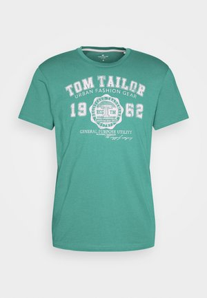LOGO TEE - Print T-shirt - new porcelain green
