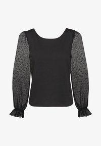 NAF NAF - PLISSY - Long sleeved top - noir - 0