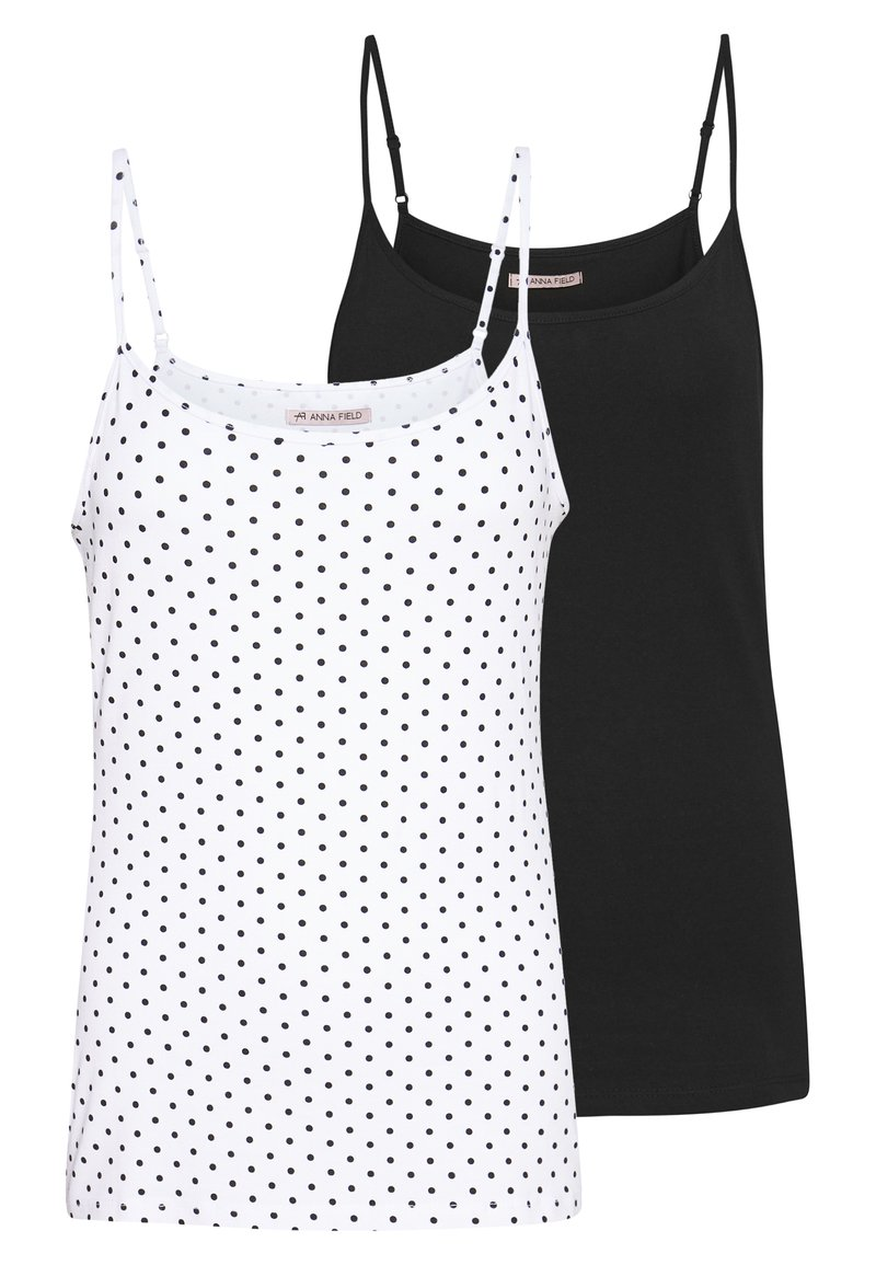 Anna Field - 2 PACK - Top - white/black