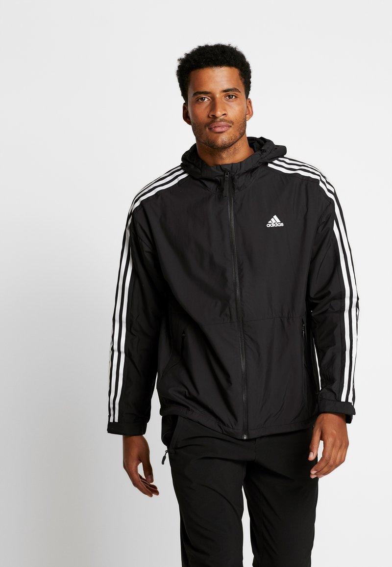 adidas Performance - 3-STRIPES LINING WINDBREAKER - Wiatrówka - black/white