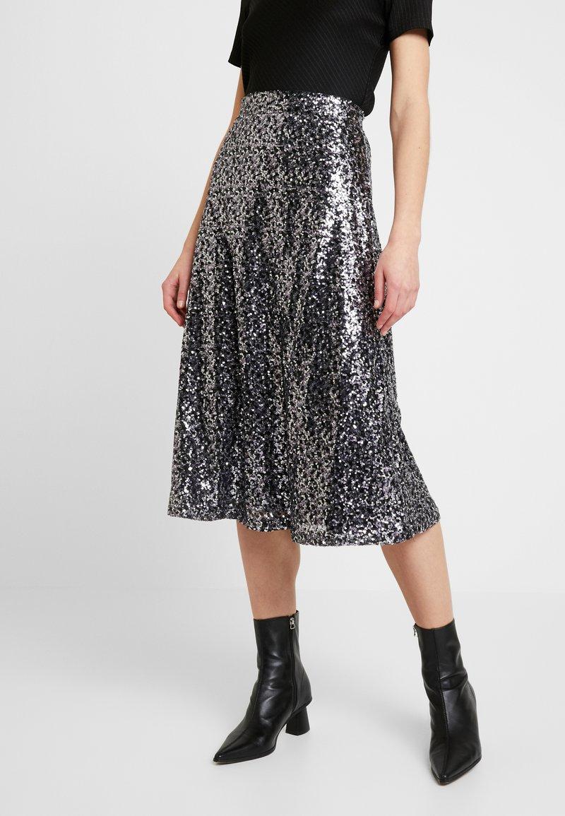 ONLY - ONLVIVA SKIRT - A-line skirt - black/silver