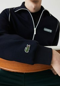 Lacoste - Zip-up hoodie - bleu marine - 4