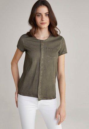 TAMBA - Basic T-shirt - oliv