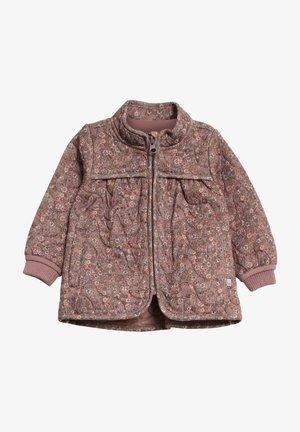 Light jacket - dusty rouge flowers