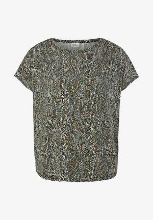 T-shirt basic - brown aop