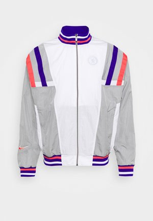 CHELSEA LONDON - Training jacket - white/matte silver/concord/ember glow