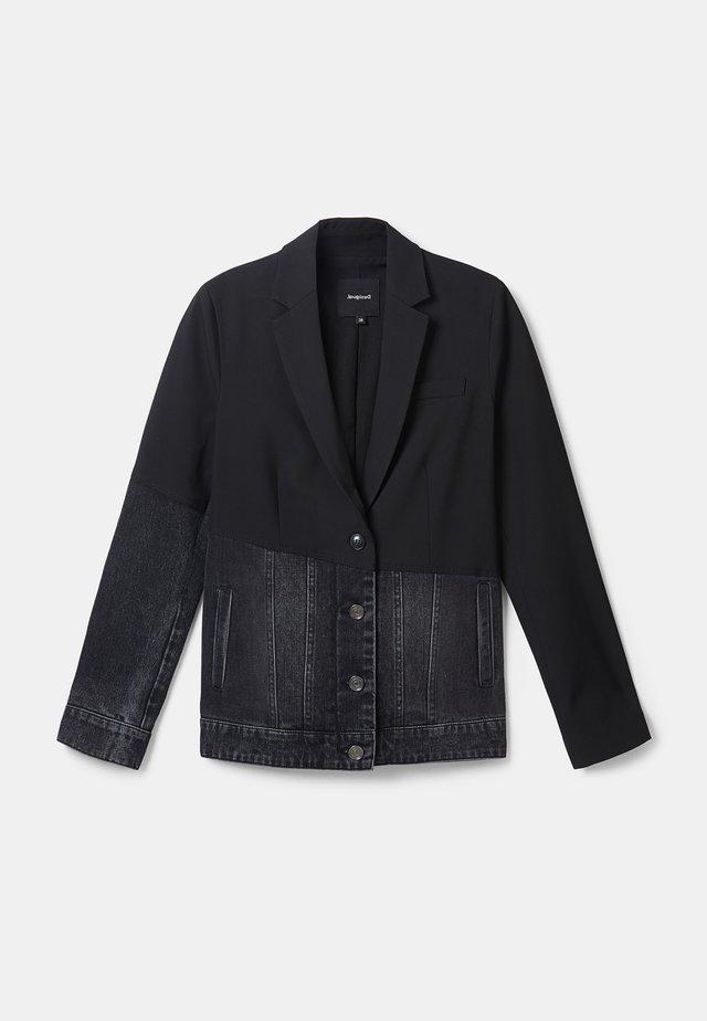 KEREM - Veste en jean - black