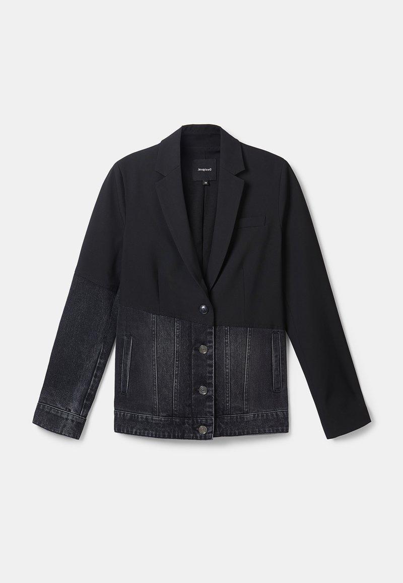 Desigual - KEREM - Giacca di jeans - black