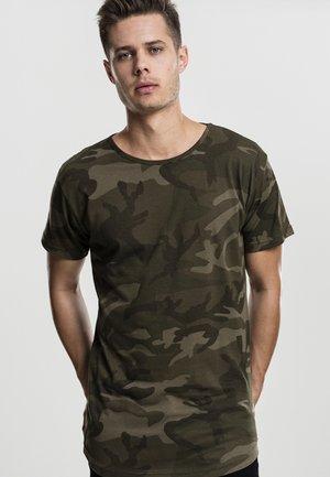 T-shirt z nadrukiem - olive