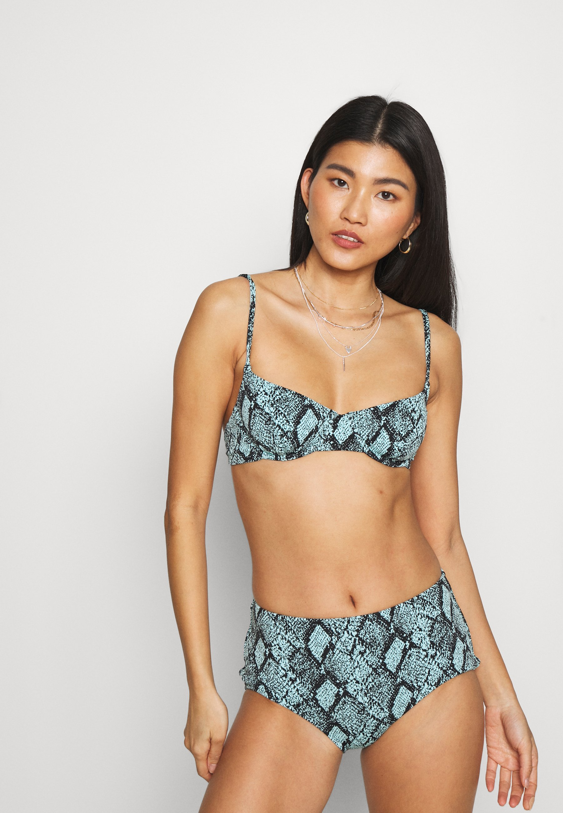 Women THE GINGER SNAKE JACQUARD - Bikini top