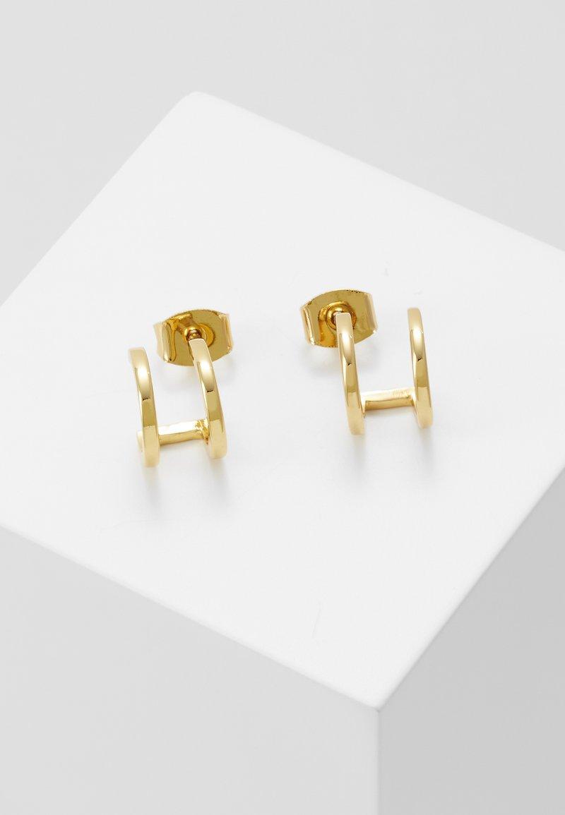 Orelia - DOUBLE HUGGIE PLAIN STUDS - Boucles d'oreilles - pale gold-coloured