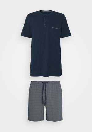 SCHLAFANZUG KURZ SET - Pyžamo - nachtblau