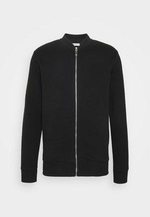 JJSTRUCTURE ZIP BASEBALL NECK - Zip-up hoodie - black