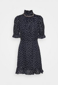 sandro - Day dress - marine/blanc - 0