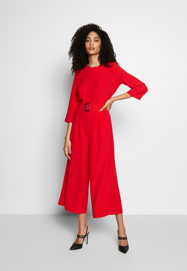 LONG SLEEVE - Jumpsuit - red
