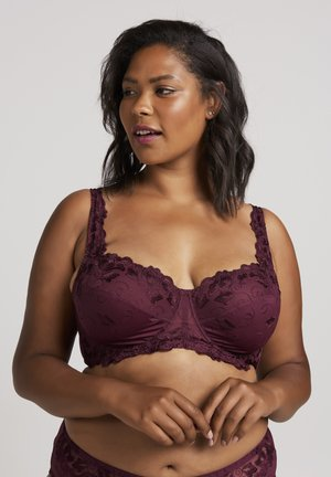 Underwired bra - bordeaux
