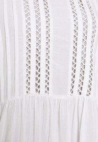 Selected Femme Petite - SLFVALENTINA MIDI DRESS PETITE - Sukienka letnia - snow white - 2