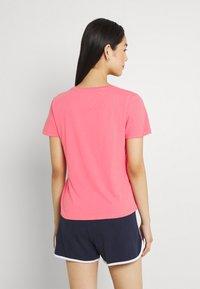 Tommy Jeans - SOFT V NECK TEE - T-paita - botanical pink - 2