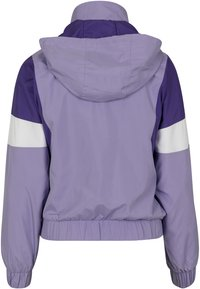 Urban Classics Curvy - LADIES LIGHT JACKET - Summer jacket - lavender/ultraviolet/white - 1