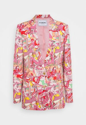 GIACCA - Blazer - stampa fondo rosa