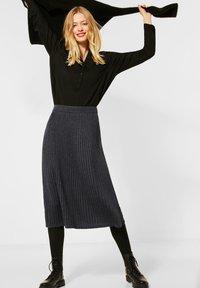 Street One - Pleated skirt - grau - 1