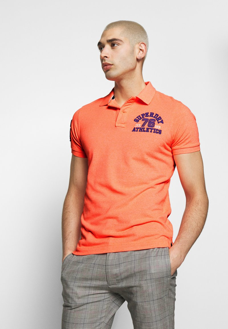 Superdry - CLASSIC SUPERSTATE - Polo - cabana coral grit