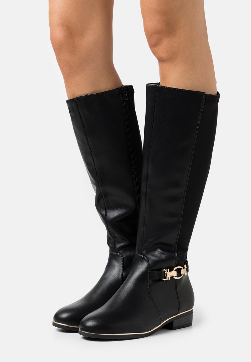 New Look Wide Fit - WIDE FIT AMOUR STRETCH BACK METAL  - Boots - black