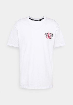 FIRE - T-shirt med print - white