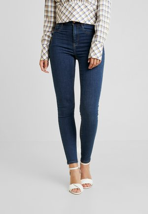 HIGHWAIST - Jeans Skinny Fit - rinsed denim