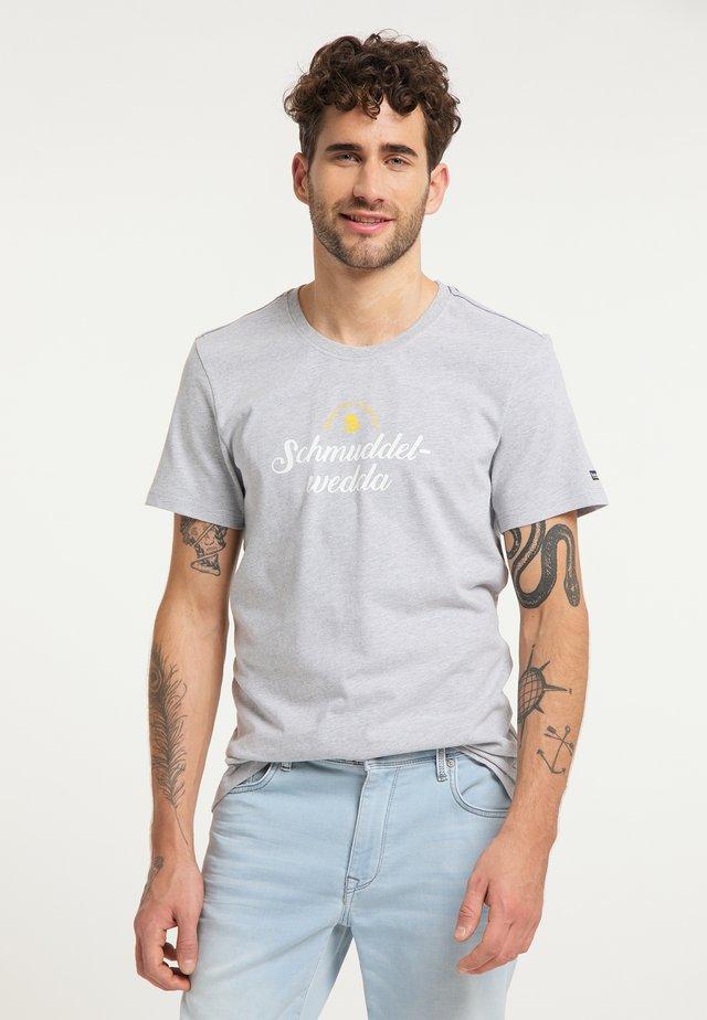 T-SHIRT - Print T-shirt - hellgrau melange