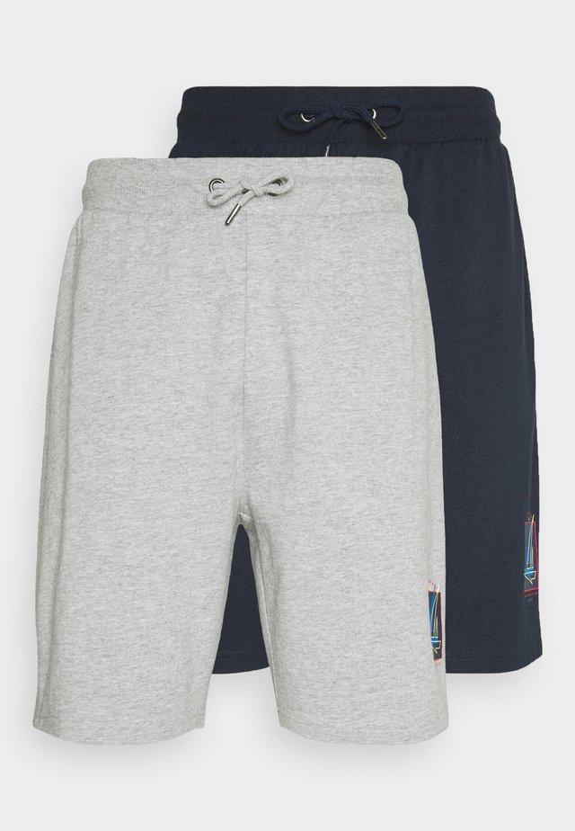 BOAT 2 PACK - Shorts - mid blue/grey marl