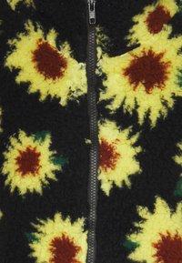 Vintage Supply - SUNFLOWER BORG ZIP THRU UNISEX - Giacca invernale - black - 2
