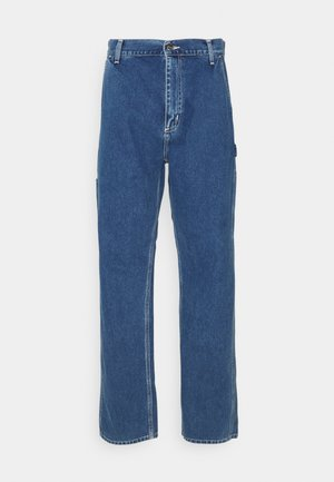 RUCK SINGLE KNEE PANT - Jean droit - blue stone washed