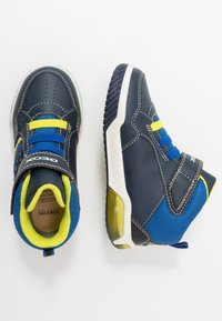 Geox - INEK BOY - High-top trainers - navy/lime
