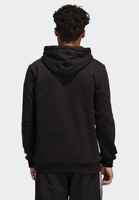 adidas Originals - RUN DMC HOODY - Hoodie - black/white/scarle - 1