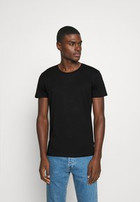Burton Menswear London - SHORT SLEEVE CREW 5 PACK - T-Shirt basic - black/white/navy/light grey marl/burgundy marl - 2