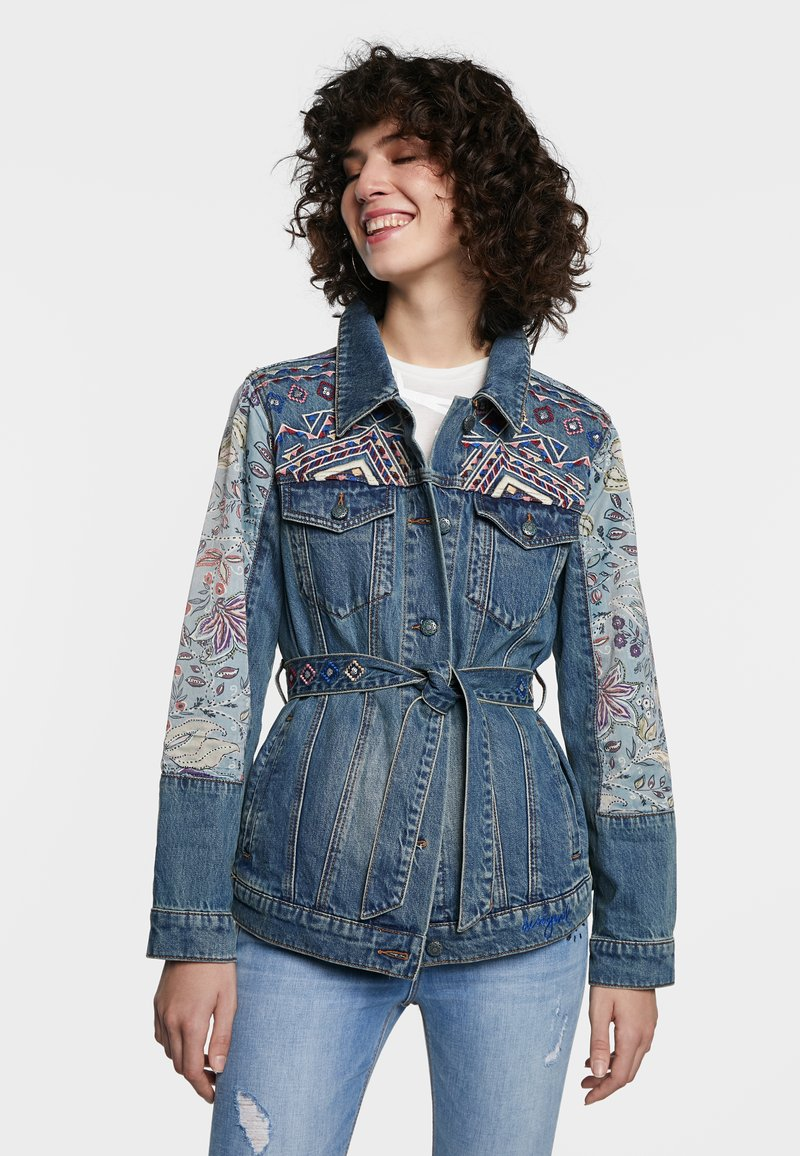 Desigual - MEMPHIS - Denim jacket - blue