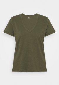 Madewell - WHISPER V NECK TEE - Basic T-shirt - foliage green - 3