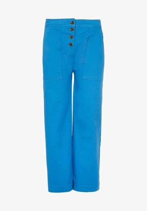 BEAUFORT MIT KNOPFLEISTE - Trousers - kräftiges blau
