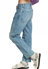 Quiksilver - MIT BAGGY  - Straight leg jeans - blue rip - 3
