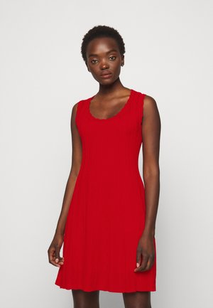 ABITO SENZA MANICHE - Jumper dress - red