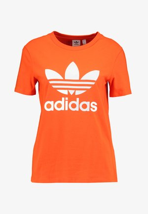 ADICOLOR TREFOIL GRAPHIC TEE - T-shirt z nadrukiem - orange