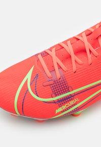 Nike Performance - MERCURIAL VAPOR 14 ACADEMY FG/MG - Fotbollsskor fasta dobbar - bright crimson/metallic silver - 5